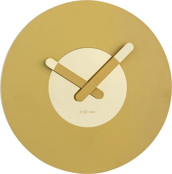 NeXtime In Touch - Klok - Stil Uurwerk - Hout/Aluminium - Rond - Ø39,5 cm - Goud