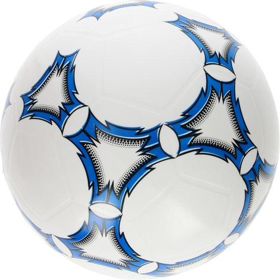 Playfun Voetbal 21 cm - blauw of rood - 200 gram