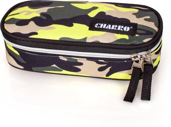 El Charro - Etui Ovaal - Camouflage - Geel - 21 cm