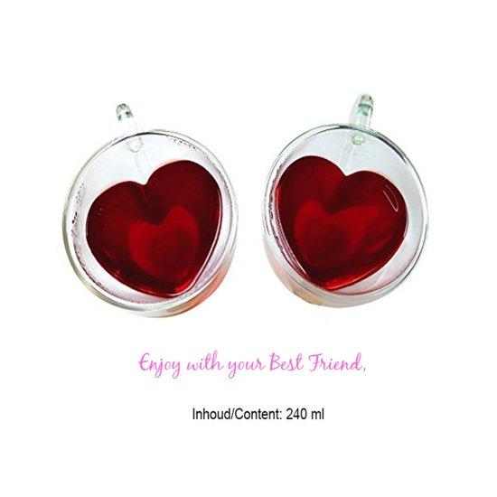 Lovely Thee glazen set (2)  'Heart'