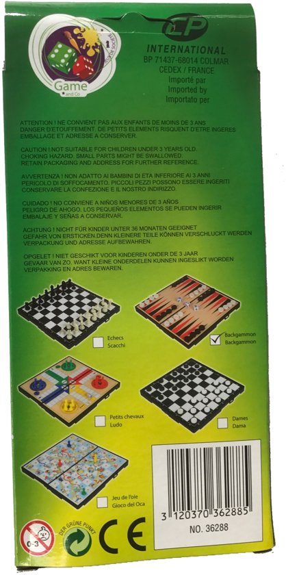 Reisspel Backgammon