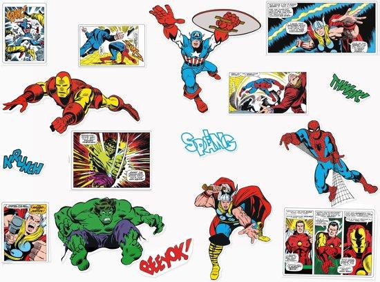 Marvel Comics - Muurstickers - Multi - 25x70 cm