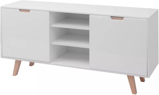 Bol.com vidaxl dressoir hoogglans wit 150x40x73 cm mdf