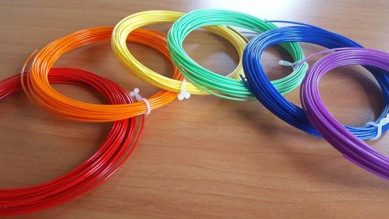 PLA filament 18kleurenx10m+ CLIPS+ PP 3D-PAD+ CLEANING   Excl. 3d-pen