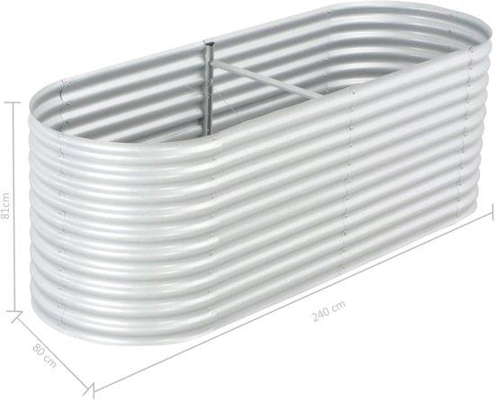 Plantenbak gegalvaniseerd staal Zilver voor Buiten 240x80x81cm / Planten Bak voor Tuin / Planten bakken voor tuin / Bakken voor planten