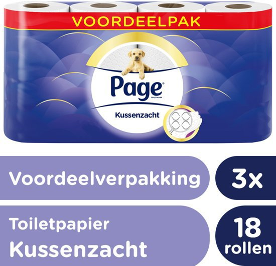 Page Kussenzacht Design Toiletpapier - 3x 16 luxe rollen