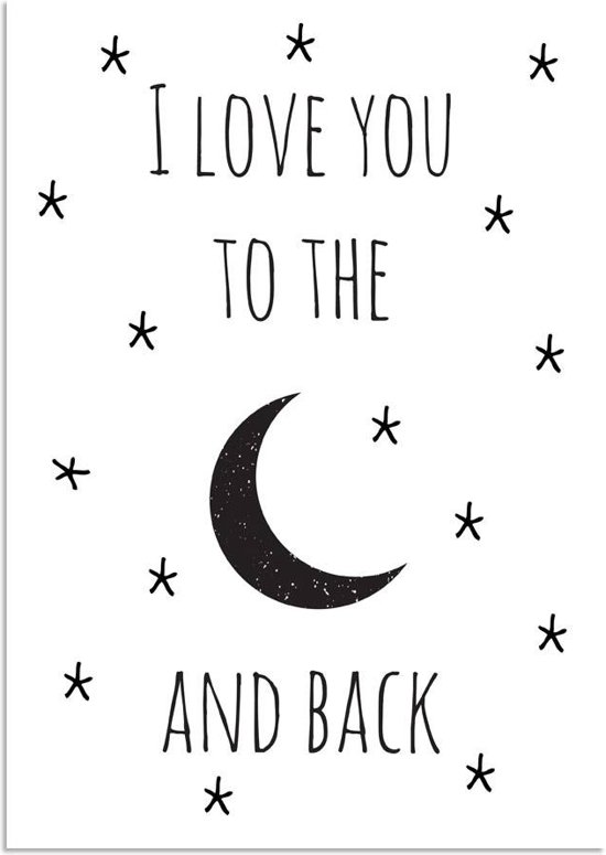 Bolcom Kinderkamer Poster I Love You To The Moon And Back