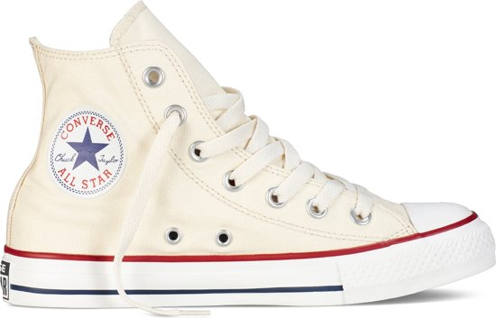 Star Converse Sneakers White Natural Hoog All vqPqpw1