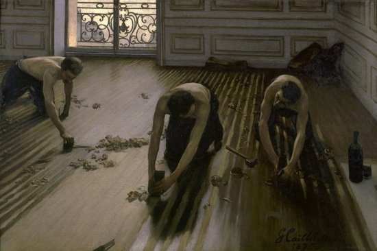 Gustave Caillebotte : The Floor Planers (1875) Canvas Print