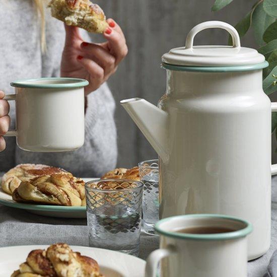 Mok Emaille, Crème - Kockums