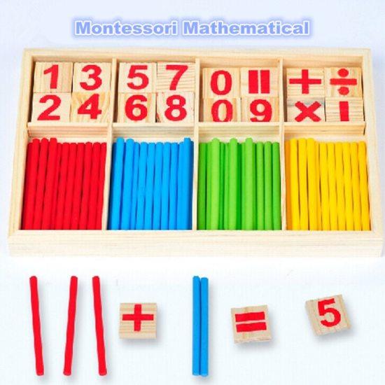 Afbeelding van Montessori wiskunde speelgoed rekenen tellen voorschoolse spillen houten speelgoed kinderen educatief speelgoed voor kinderen kinderen Montessori Math Toys Arithmetic Counting Preschool Spindles Wooden Toys Kids Educational Toys For Kids Children speelgoed