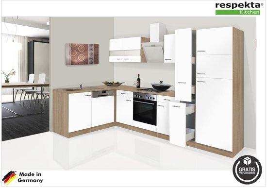 Keuken Zonder Inbouwapparatuur : Bol.com respekta® hoek keuken spongdal compleet incl. apparatuur