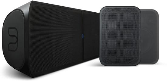 Bluesound Pulse Soundbar + 2X Pulse Flex - Zwart