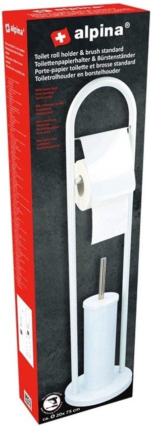 Alpina Toiletborstel & Houder 22x80cm