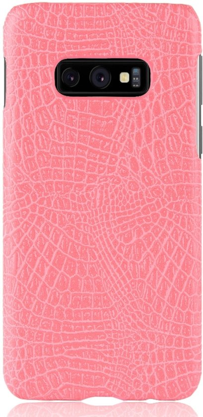 Mobigear Shockproof Krokodil Hoesje Roze Samsung Galaxy S10e