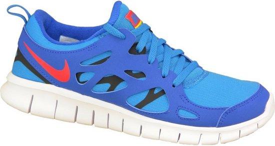 Nike Free 2 Gs 443742-404, Vrouwen, Blauw, Hardloopschoenen maat: 38 EU