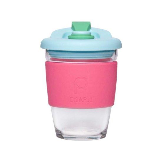 Herbuikbare Koffiebeker - 340ml - Laguna Rosa - Glas - Pioneer