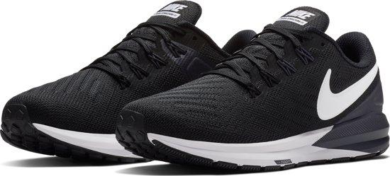 Nike Air Zoom Structure 22 Dames Sportschoenen BlackWhite Gridiron Maat 42