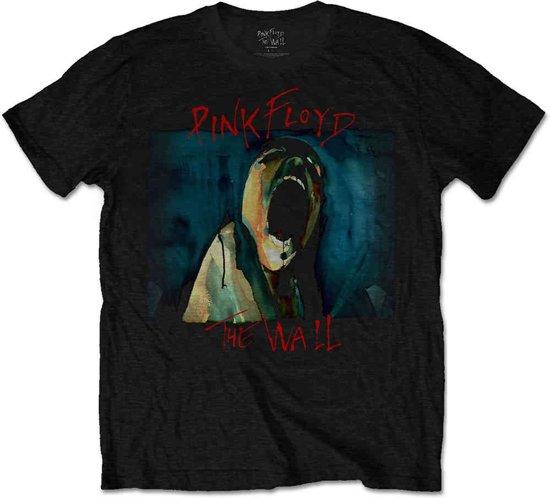 Pink Floyd - The Wall Scream heren unisex T-shirt zwart - M