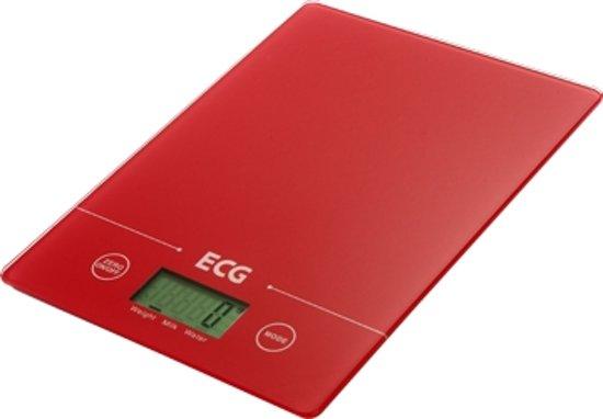 ECG K117RD keukenweegschaal rood