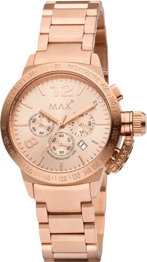 Max 5 -MAX595 - Horloge - Staal - Rosékleurig - 38 mm