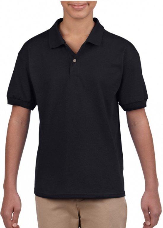 Zwarte poloshirt voor jongens 134-140 (M)