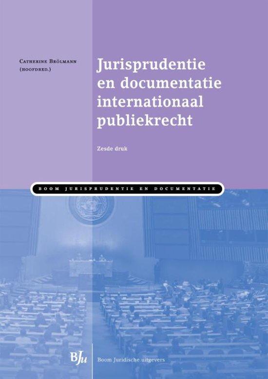 Boek cover Jurisprudentie en documentatie internationaal publiekrecht van  (Paperback)