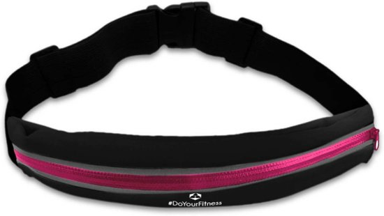 #DoYourFitness - Loopriem - »RunActive« - heuptas / ritszak voor hardlopen ,elastisch, waterdicht - mobiele telefoon tot ca. 5,5 inch - Pink