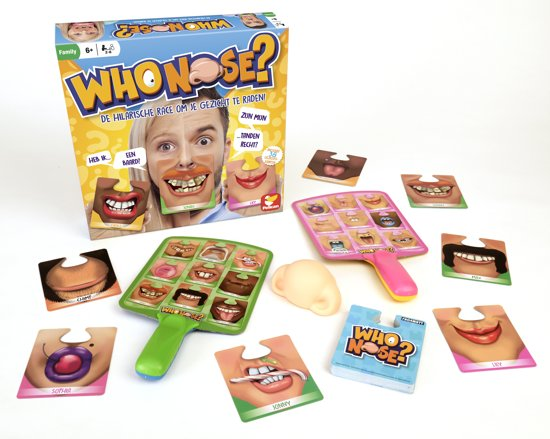 Who Nose? Spel - De hilarische race om je gezicht te raden