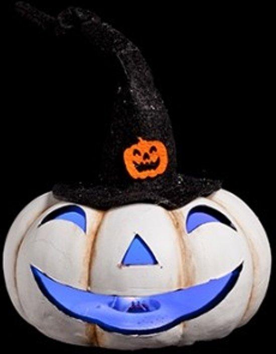 bol.com   Halloween pompoen wit met hoed - set van 2 stuks
