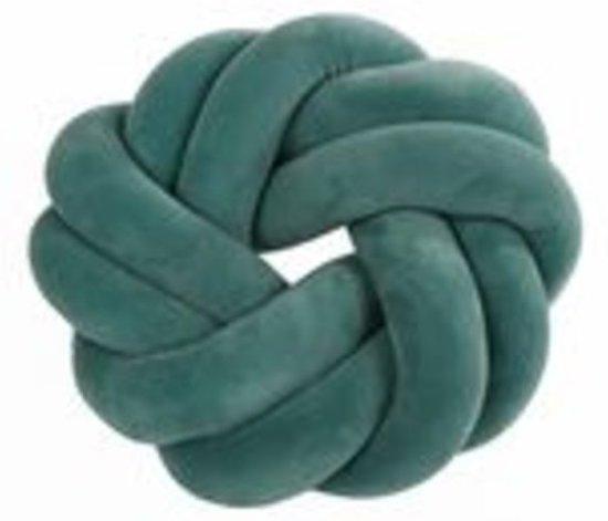 "Plaids - Kussen Rond ""braided"" Groen Stof 30x30x10cm"