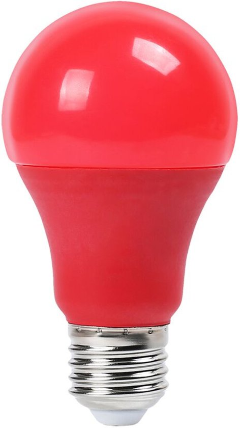 Rode led lamp e27 9w a60 for Gekleurde led lampen e27