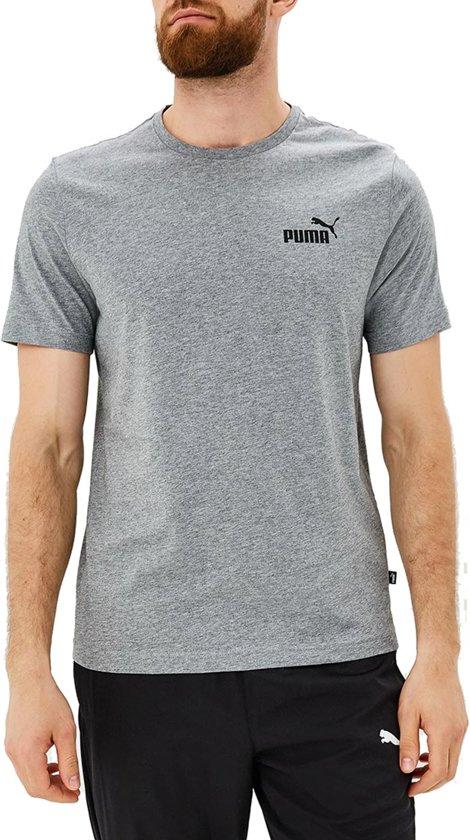 PUMA Ess Small Logo Tee Shirt Heren - Medium Gray Heather