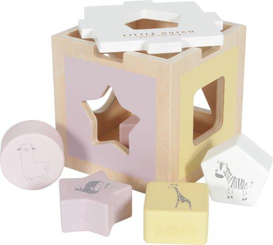 Afbeelding van LD houten vormenstoof zoo - pink speelgoed