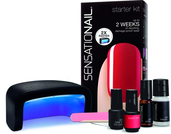 Sensationail Starter kit - Scarlet Red - Gel nagellak