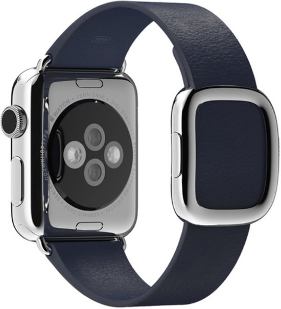 Bandje met moderne gesp voor de Apple Watch - 38 mm - Small - Blauw