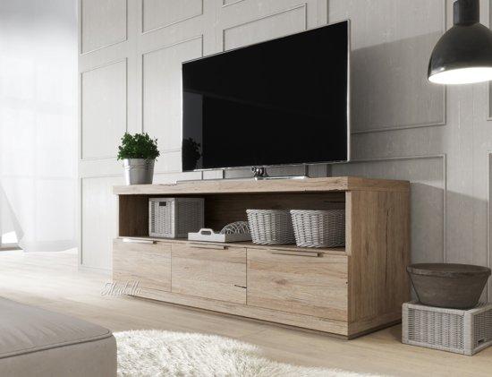 Tv Meubel Design Eiken.Tv Meubel Lencos Eiken 120 Cm
