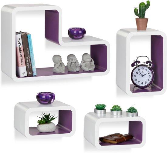 bol.com | relaxdays wandboard set van 4 - wandbox modern - design ...
