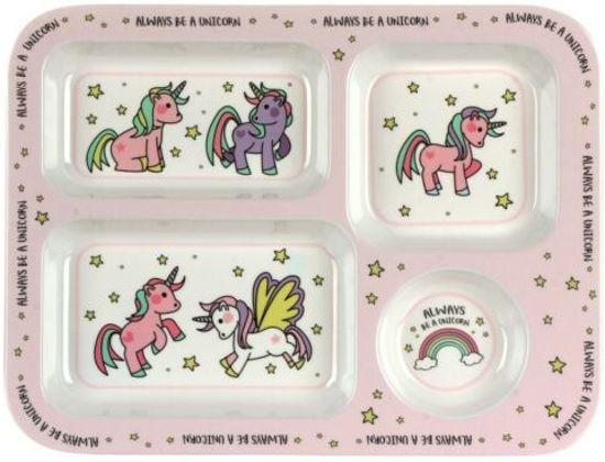 Little Stars Eenhoorn Melamine snackbord voedseldienblad 30 cm