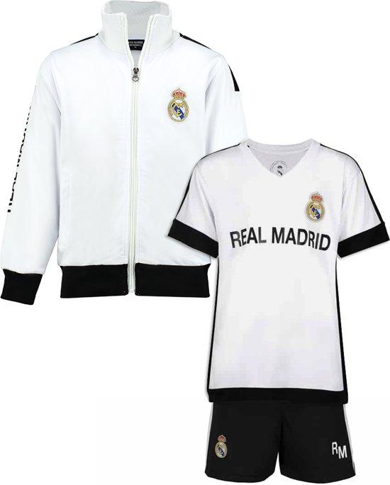 Real Madrid vest + Real Madrid thuis tenue