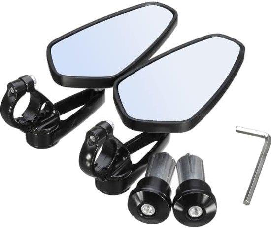 Paar 7/8 inch motorfiets achteruitkijkspiegel bar accessoires aluminium zijkant universeel