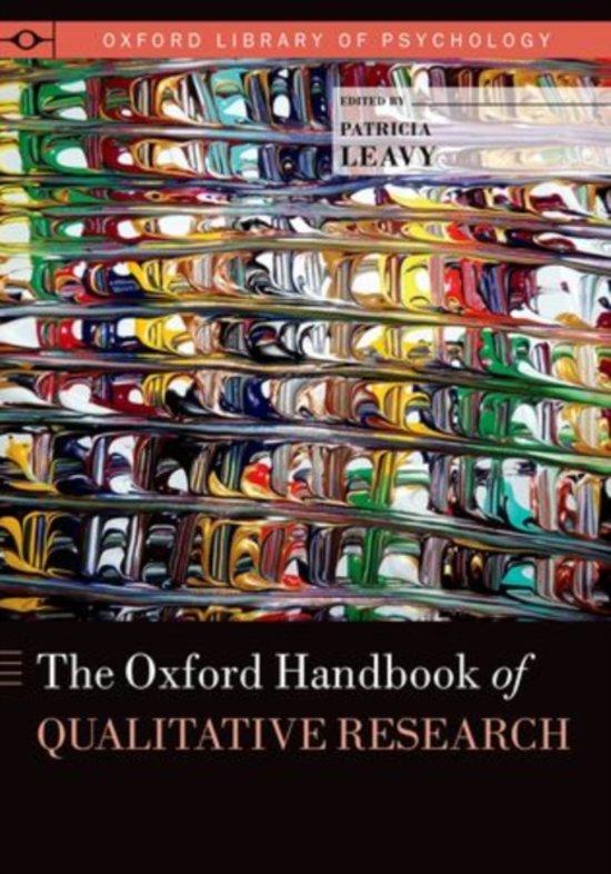 Boek cover The Oxford Handbook of Qualitative Research van Patricia Leavy (Hardcover)
