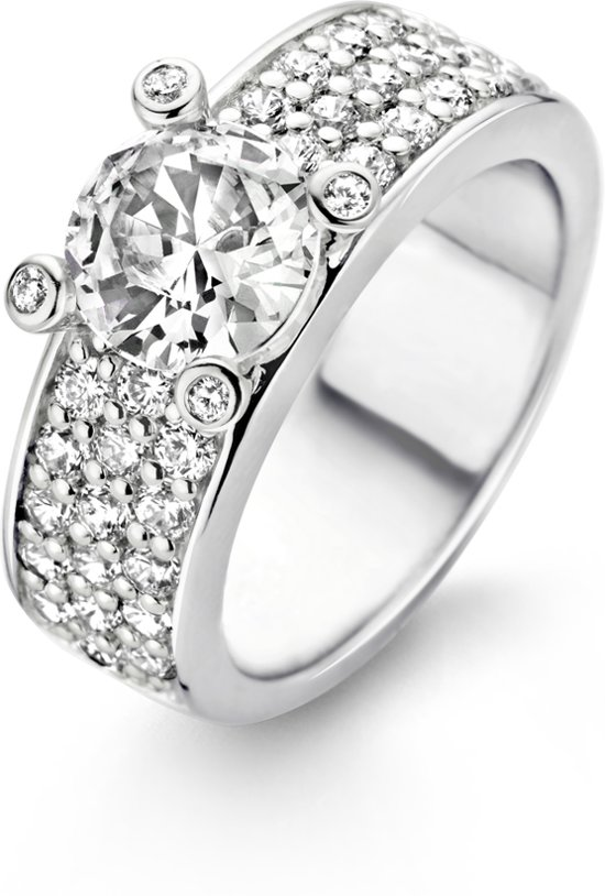 TI SENTO Milano Ring 1493ZI - Maat 58 (18,5 mm) - Gerhodineerd Sterling Zilver