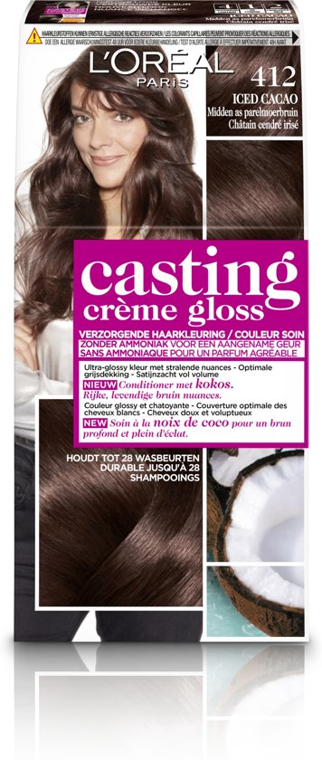 L'Oréal Paris Casting Crème Gloss Haarverf - 412 Midden As Parelmoerbruin