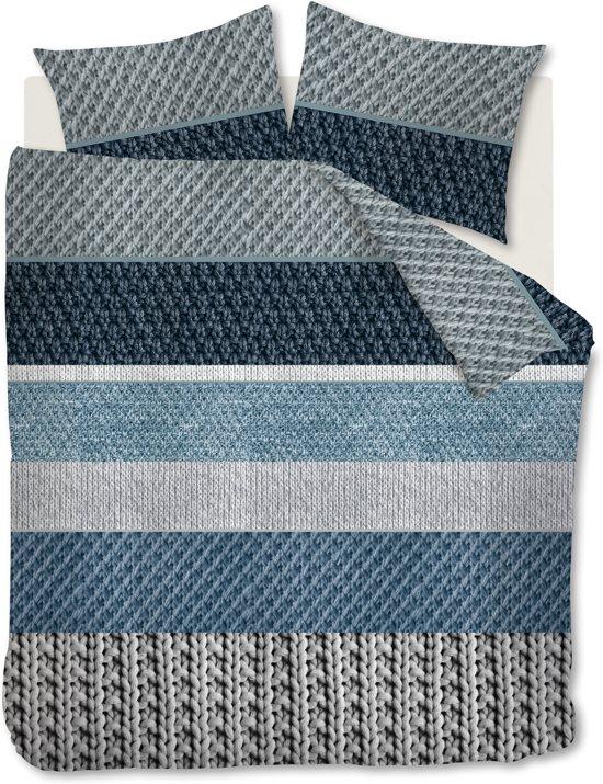 Ambiante Macy - Dekbedovertrek - Lits-jumeaux - 240x200/220 cm - Blauw