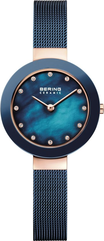 BERING 11429-367 - Horloge - RVS - Rosékleurig - Ø 29 mm