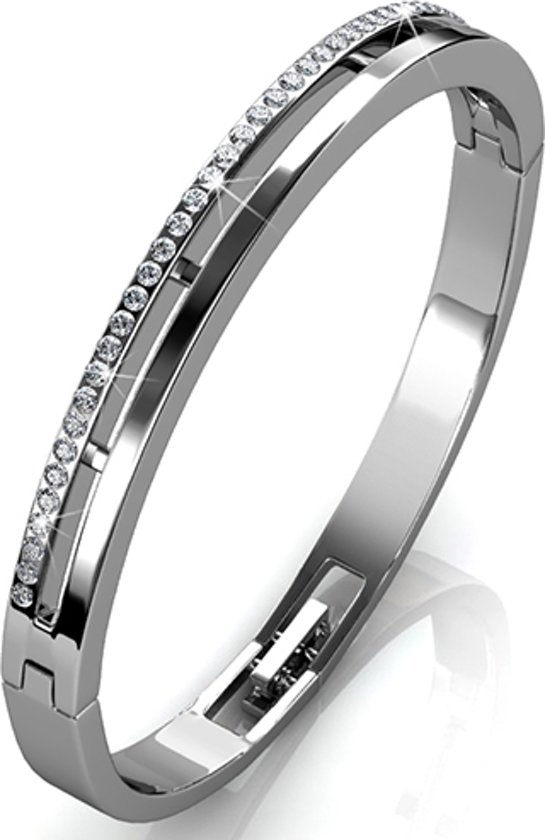 Yolora sieraden - Armband met Crystals from Swarovski ® - Silver Lady - Dutch Beauty Design