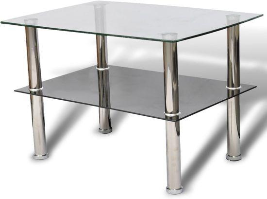 2 Glazen Tafels.Vidaxl Glazen Salontafel Transparant