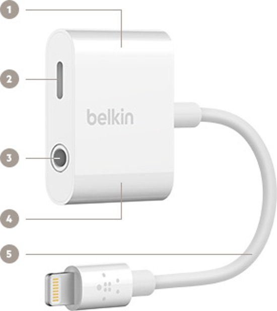 Belkin Audio & Oplaad Adapter
