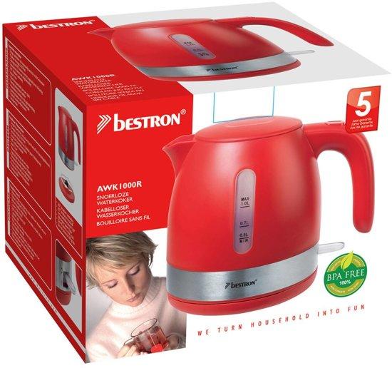 Bestron Waterkoker 2150 W 1 L rood AWK1000R
